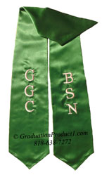 GGC BSN kelly green Graduation stole