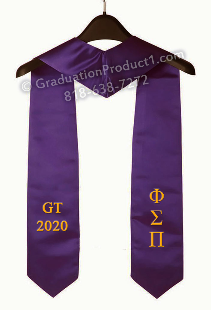 Gt 2020 Purple Graduation Stole
