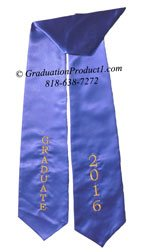Graduate 2016 Royal Blue graduation stole
