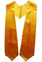 HONORS Gold Graduation Stole