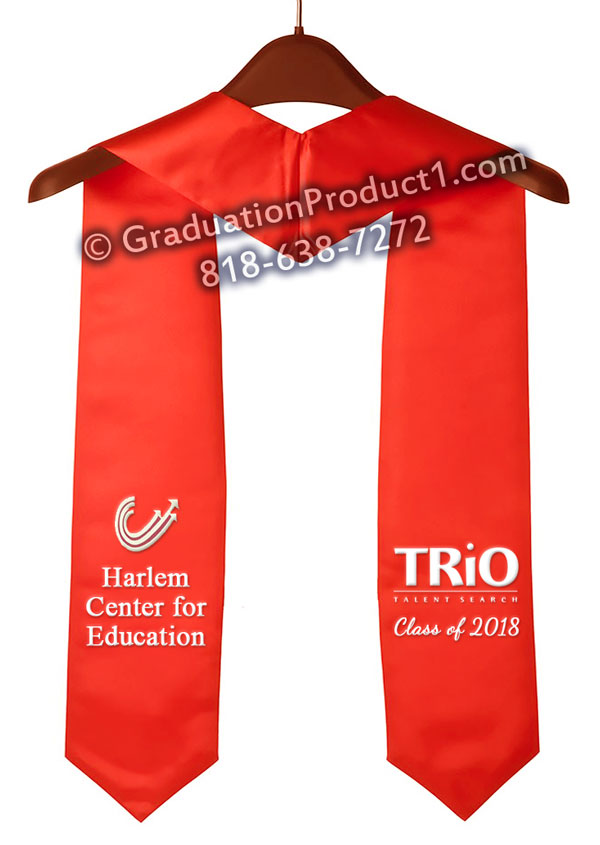 Harlem Center Of Education Graduation Stole