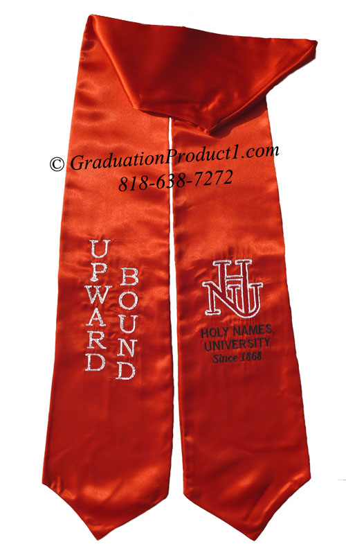 Holy Names University Red Graduation Stole