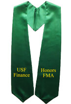 Honors FMA Kelly Green Graduation Stole