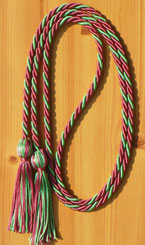 Hot Pink & Kelly Green Intertwined Graduation Honor Cord