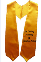 Gold One Side Embroidered Graduation Stole