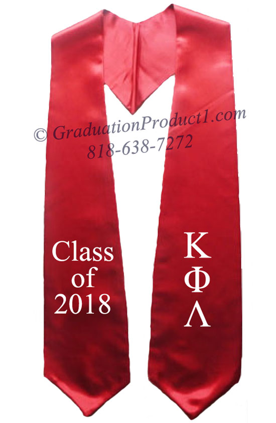 Kappa Phi Lambda Red Greek Graduation Stole