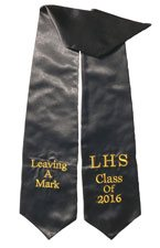 Leaving A Mark LHS black Graduation stole