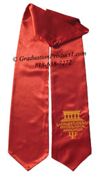 LSPA Maroon Graduation Stole with Logo