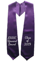LSSSC Upward Bound Purple Two Side Embroidery Stole