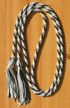 Light Blue & Black Intertwined Graduation Honor Cord