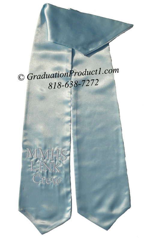 Mmhs Link Crew Light Blue Graduation Stole