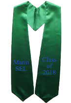 Kelly Green Two Side Embroidered Graduation Stole