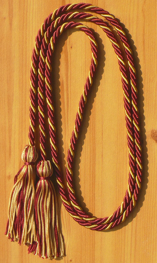 Maroon And Old Gold Intertwined Honor Cord