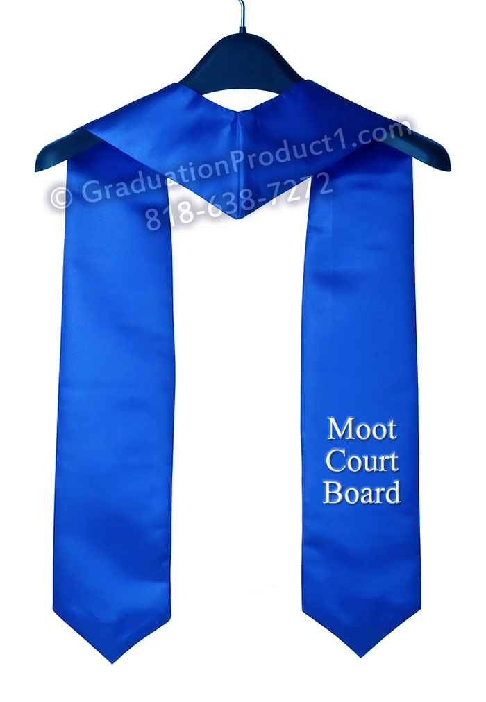 Moot Court Board Royal Blue Graduation Stole