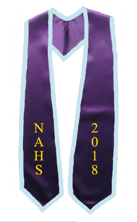 Nahs 2017 Purple Stole With Light Blue Trim