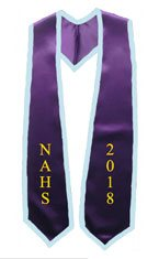 NAHS 2018 Purple Stole with Light blue Trim