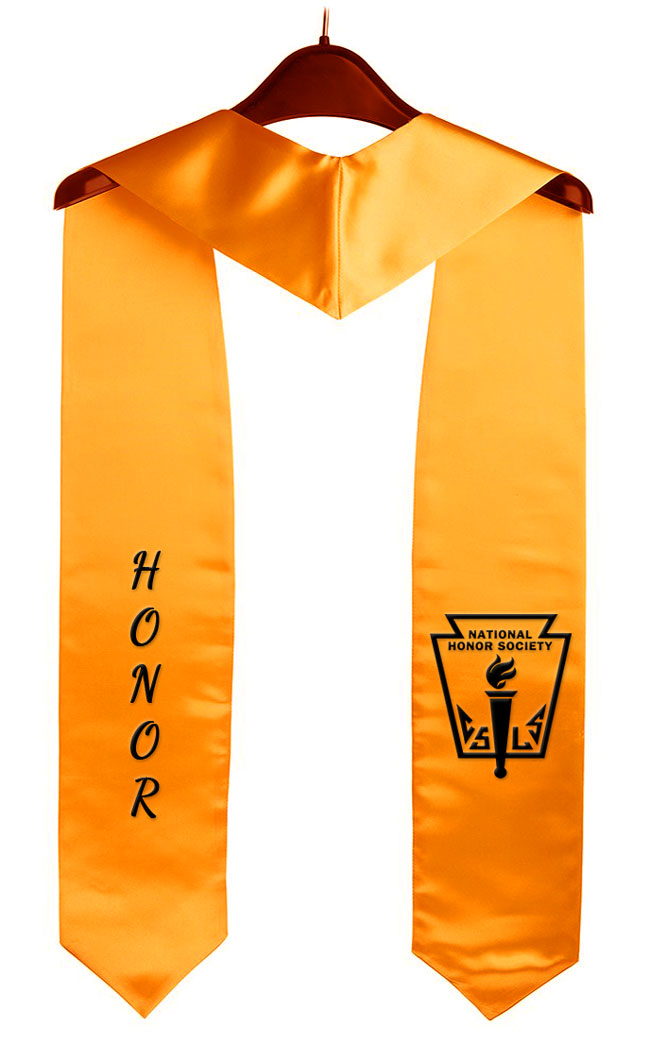 Nhs Honor Gold Graduation Stole