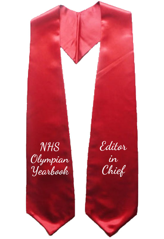 Nhs Olympian Yearbook Red Graduation Stole