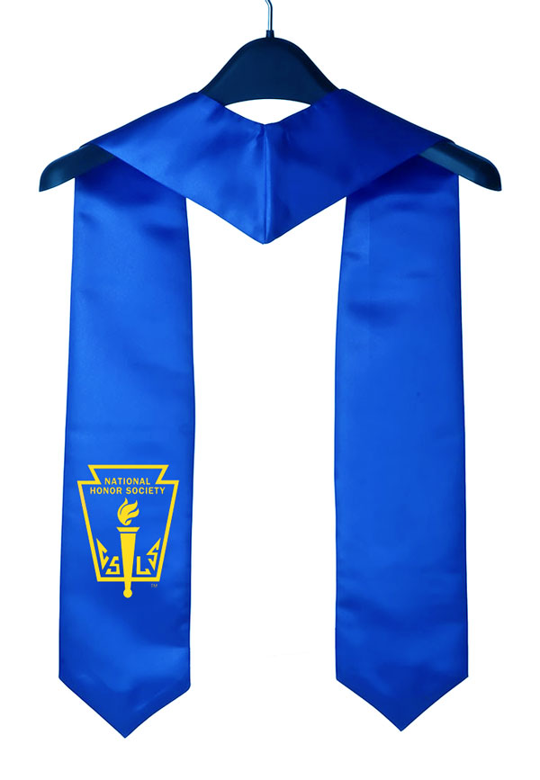 Nhs Royal Blue Graduation Stole With Logo