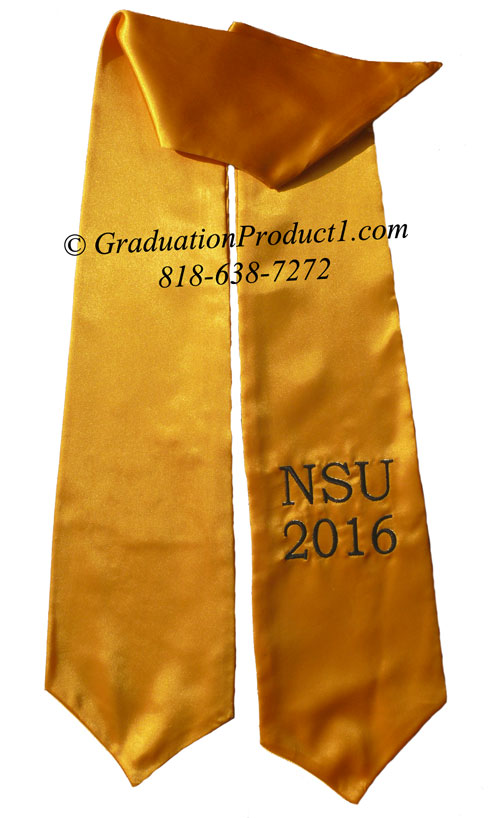 Nhs 2016 Gold Graduation Stole