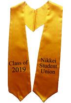 Nikkei Student Union Gold Graduation Stole