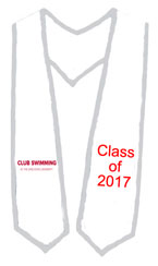 Ohio State Swimming Club White Trim Stole