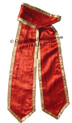 Orange Graduation Stole with Old Gold trim