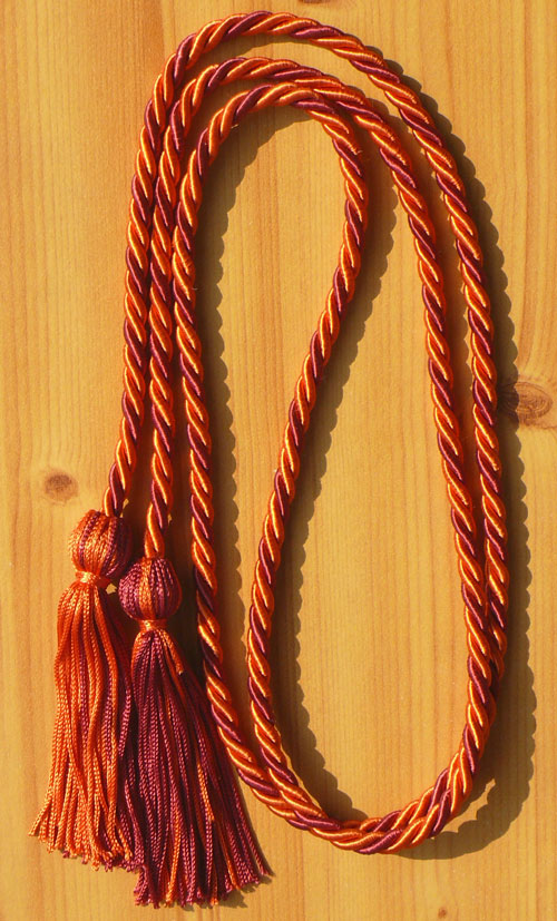 Orange And Hot Pink Intertwined Honor Cord