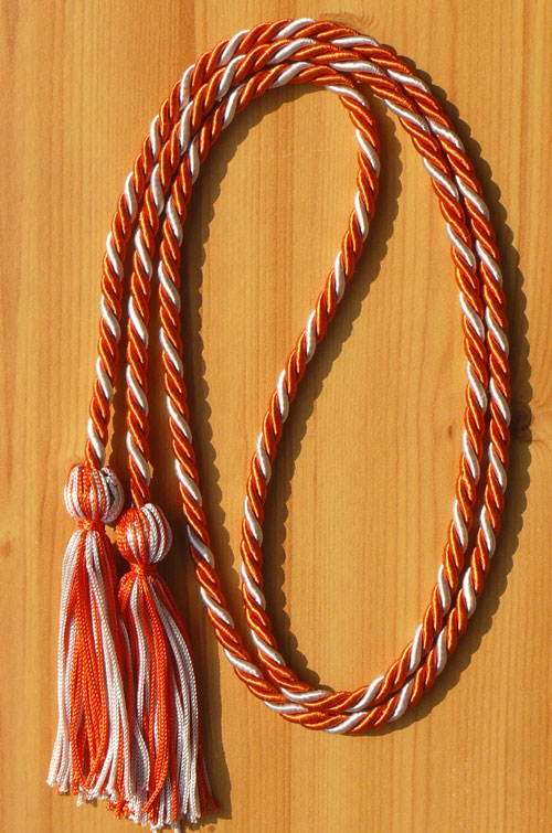 Orange And Silver Intertwined Honor Cord