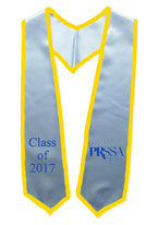 PRSSA White Graduation Stole with Gold Trim