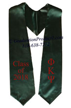 Phi Kappa Psi Dark Green Greek Graduation Stole