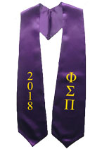 Phi Sigma Pi 2018 Greek Graduation Stole