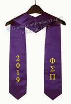 Phi Sigma Pi 2019 Greek Graduation Stole