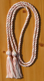 Pink & White Intertwined Graduation Honor Cord