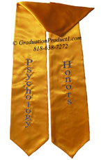 Psychology Honors gold graduation stole