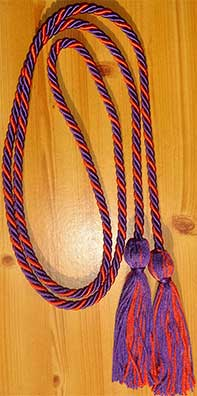 Purple and Orange Awemaker Honor Cord, Honor Cords for a Cure