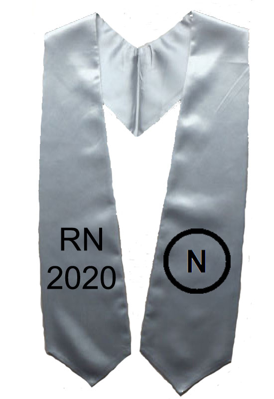 Rn 2017 Silver Two Side Embroidery Stole