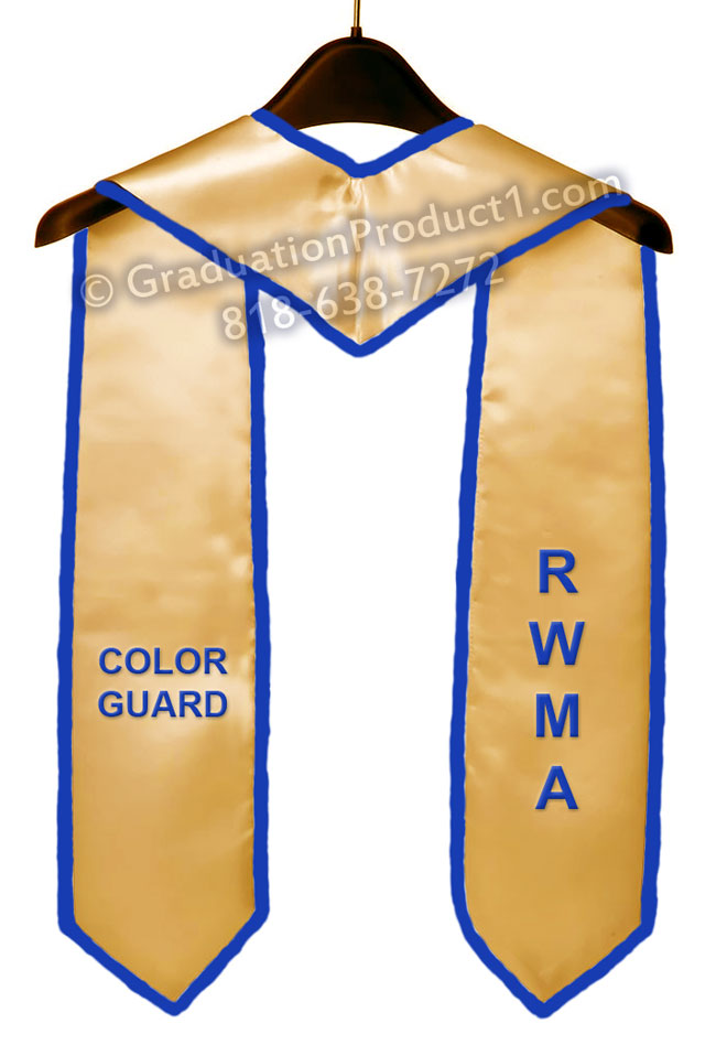 Rwma Color Guard Old Gold Graduation Stole
