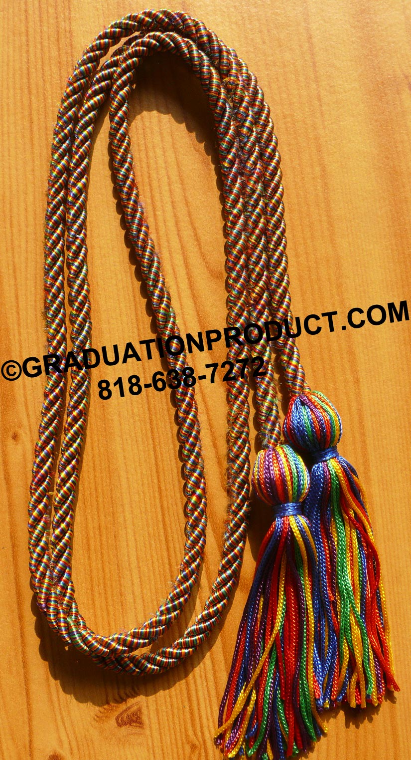 Rainbow Honor Cords