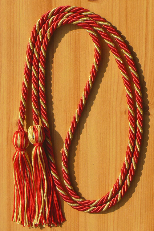 Red And Metallic Gold Intertwined Honor Cord