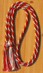 Red & Silver Intertwined Graduation Honor Cord