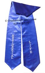 Residential Life Royal Blue Graduation Stole