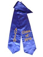 Avid Class of 2016 Royal Blue Graduation Stole