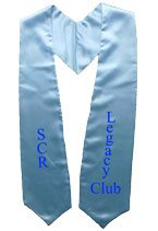 SCR Legacy Club Light Blue Graduation Stole