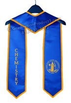 SJSU Chemistry Royal blue Stole with Gold Trims