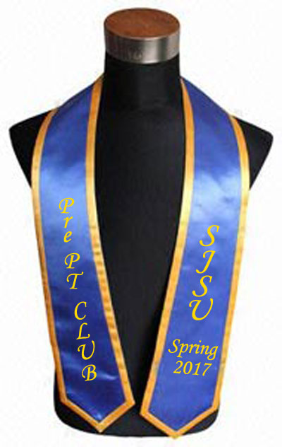 Sjsu Ppc Royal Blue Trim Graduation Stole