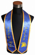 SJSU Royal Blue Trim Graduation Stole