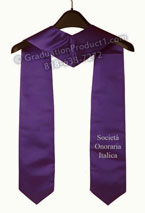 SOI One Side Embroidered Graduation Stole