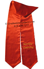 Service learning Red Graduation Stole