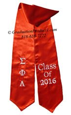 Sigma Phi Lambda Red Greek Graduation Stole